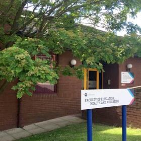 entrance to Burton Library
