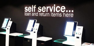 library self-service kiosks