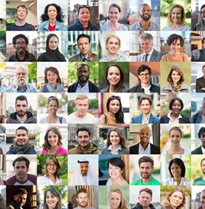 A collage image showing faces of our alumni.