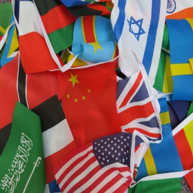 International flags for Orientation masonry