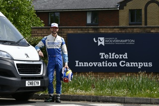 Racing driver turns delivery driver in the effort to supply PPE for care workers