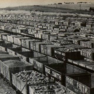 Image of coal trucks