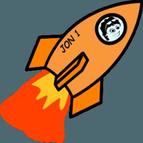 JW on a rocket